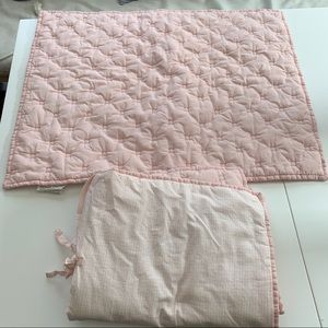 Pottery barn kids modern pink quilted pillow shams